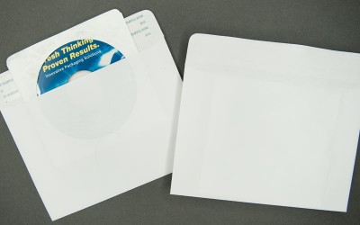 "CD/DVD Mailer - Paper - White - 7 1/4"" x 5 1/8"" - 1 Way"
