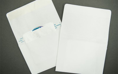"CD/DVD Mailer - Paper - White - 7 1/4"" x 5 1/8"" - 2 Way"