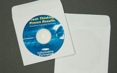 "CD/DVD Envelope - Plain White with Window and Latex on 1"" Flap - Paper"