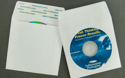 "CD/DVD Envelope - Plain White with Window and 1 1/2"" Flap with Strip and Seal - Paper"