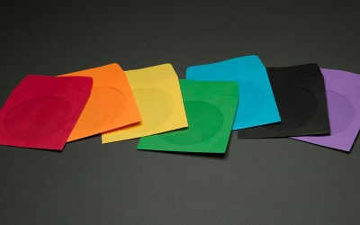 CD/DVD Envelope - Assorted Colors with Window and Flap - Paper