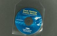 CD/DVD Envelope - Polypropylene - Clear with Flap - 5.9 mil