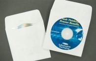 """CD/DVD Envelope - 2 Pocket Plain White with Window - 1 1/2"""" Flap - Tyvek®"""