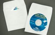 """CD/DVD Envelope - 3 Pocket - Plain White with Window - 1 1/2"""" Flap - Tyvek®"""