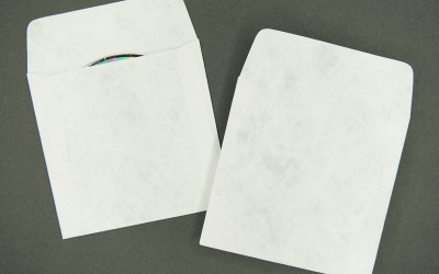 CD/DVD Envelope - Plain White - Tyvek® - with Flap