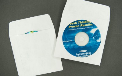"DVD Envelope - Plain White with Window and 1 1/2"" Flap - Tyvek®"