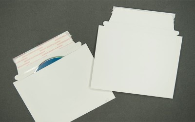 """CD/DVD Mailer - Paperboard - White - 4 15/16"""" x 6 9/16"""""""