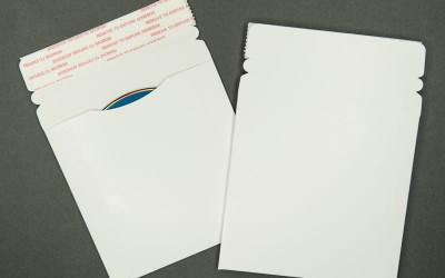 """CD/DVD Mailer - Paperboard - White - 5 1/4"""" x 5 1/4"""""""