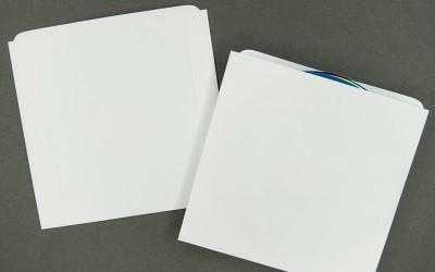 CD/DVD Sleeve - Plain White - Paper