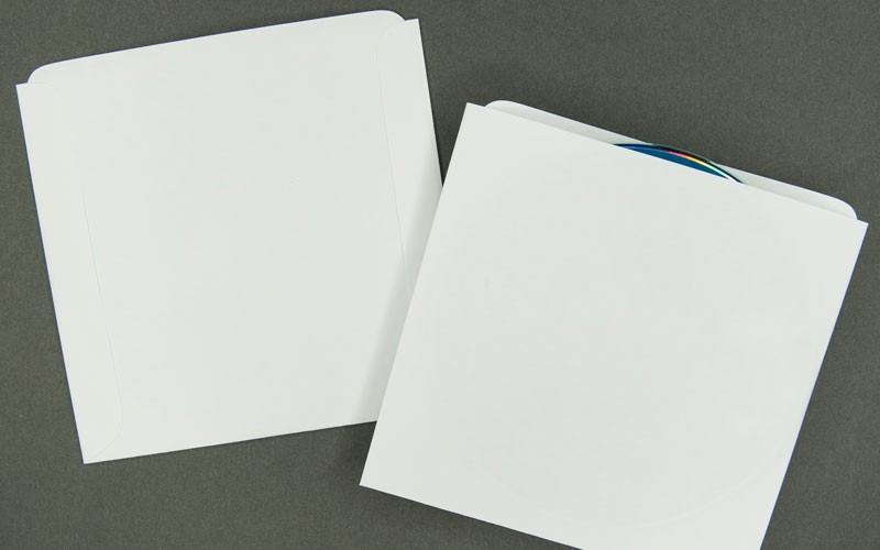 CD/DVD Sleeve - Plain White - Paper Archives - Bank Cards, DVDs ...
