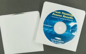 Plain White CD DVD Sleeve With Window