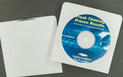 CD/DVD Sleeve - Plain White with Window - Paper