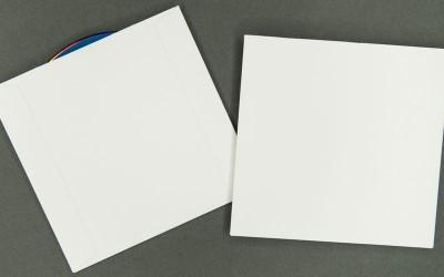 CD/DVD Sleeve - Plain White - 12pt Paperboard