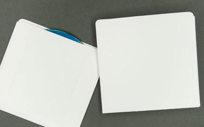 CD/DVD Sleeve - Plain White - 8pt Paperboard