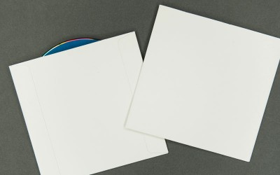CD/DVD Sleeve - Plain White - No Window - No Flap - 12pt Paperboard with Tyvek® Liner