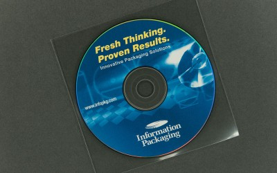 CD/DVD Sleeve - Clear - Polypropylene - 4.3 mil