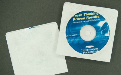 CD/DVD Sleeve - Plain White with Window - Tyvek®