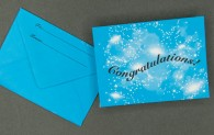 Gift Card Envelope - Congratulations - Cosmic