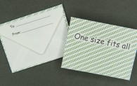 Gift Card Envelope - Dollar Signs - One Size Fits All