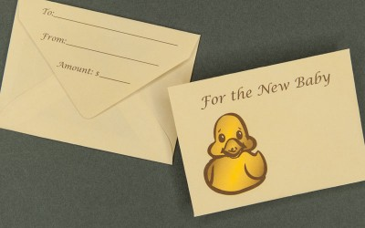 Gift Card Envelope - For the New Baby