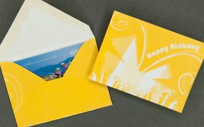 Gift Card Envelope - Happy Birthday - Yellow