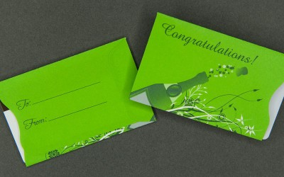 Gift Card Sleeve - Congratulations - Green