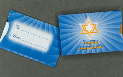 Gift Card Sleeve - Hanukkah