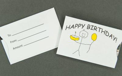Gift Card Sleeve - Happy Birthday Child