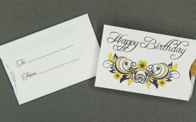 Gift Card Sleeve - Happy Birthday