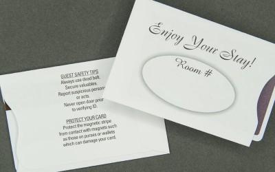 Hospitality Card Sleeve - Enjoy Your Stay