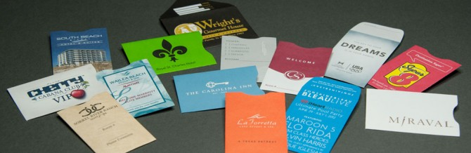 hospitality card sleeves