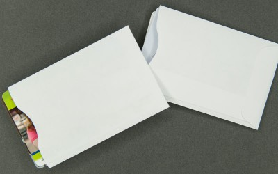 Plain White Card Sleeve - Paper - For 2 Cards