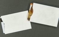 Plain White Card Sleeve - Tyvek® - For 2 Cards