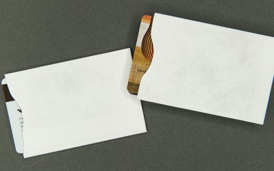 Plain White Card Sleeve - Tyvek® - For 2 Cards
