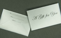 Mini Gift Card Envelope - A Gift for You - Silver