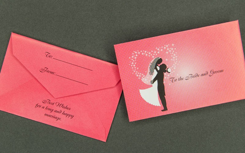 information packaging mini wedding gift card envelope