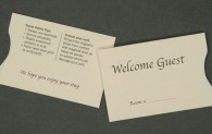Hospitality Card Sleeve - Welcome Guest
