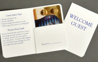 Welcome Guest 10 PT. Hotel Key Card Holder