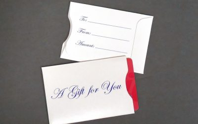 Gift Card Sleeve - Blue Gift for You 10 pt. Gloss Stock