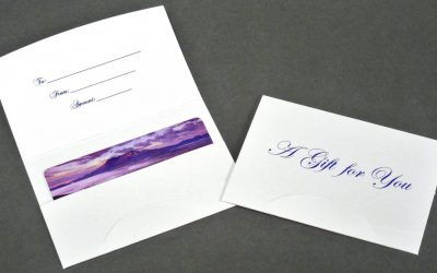 Gift Card Holder - Blue Gift for You 10 pt. Gloss Stock