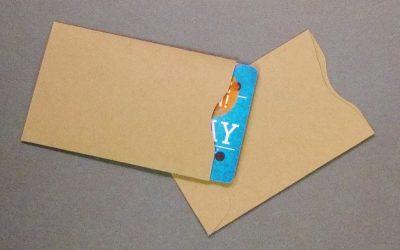 Gift Card Sleeve - Brown Kraft