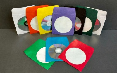 CD/DVD Envelope - 10 Pack Assorted Colors with Window and Flap - Tyvek®