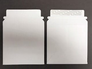 "CD/DVD Mailer - Paperboard - White - 5 1/4"" x 5 1/4"""