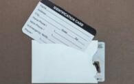 Plain White Dual Card Sleeve - Tyvek®