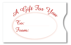 Gift Card Sleeve - A Gift For You Red