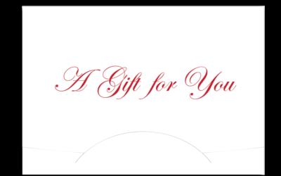 Gift Card Holder - Red Gift for You 10 pt. Gloss Stock