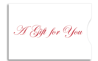Gift Card Sleeve - Red Gift for You 10 pt. Gloss Stock